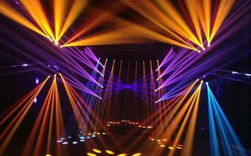ANGLER特效设备辉耀锦路之高浪展厅灯光SHOW