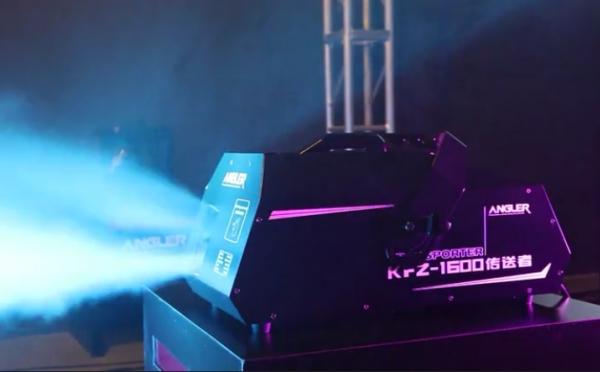 安格尔 KFZ-1600 传送者 舞台特效 烟雾机实拍效果-2