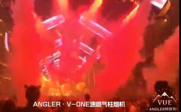 安格尔ANGLER 舞台特效设备 - 酒吧项目现场实拍(V-ONE速喷气柱烟机)-002